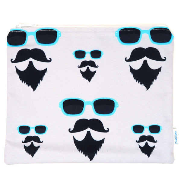 moustache zip bag
