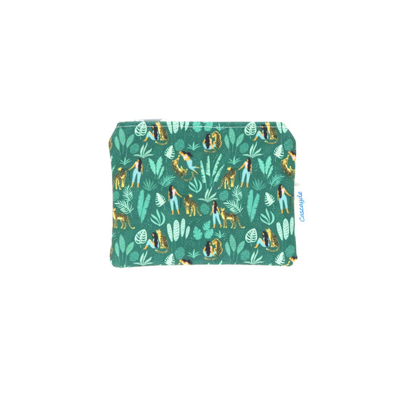 Green Leopard Coin Purse