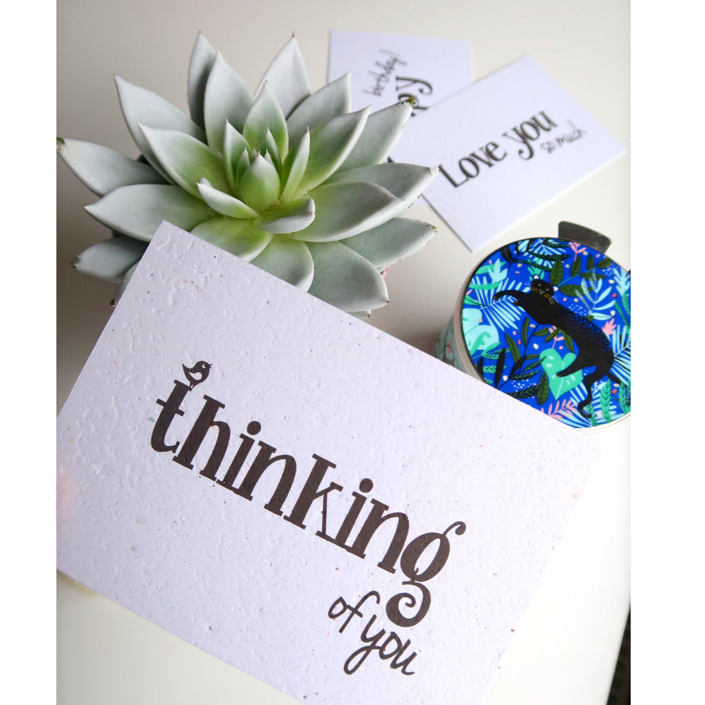 Thinking of you plantable card seeded paper greeting card