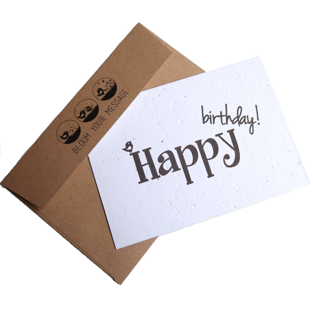 Happy Birthday Plantable Card with envelope
