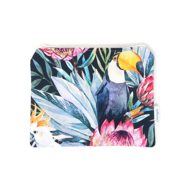 Toucans and Parrots zip bag