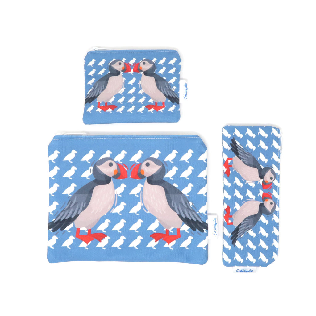 penguin design zip bags