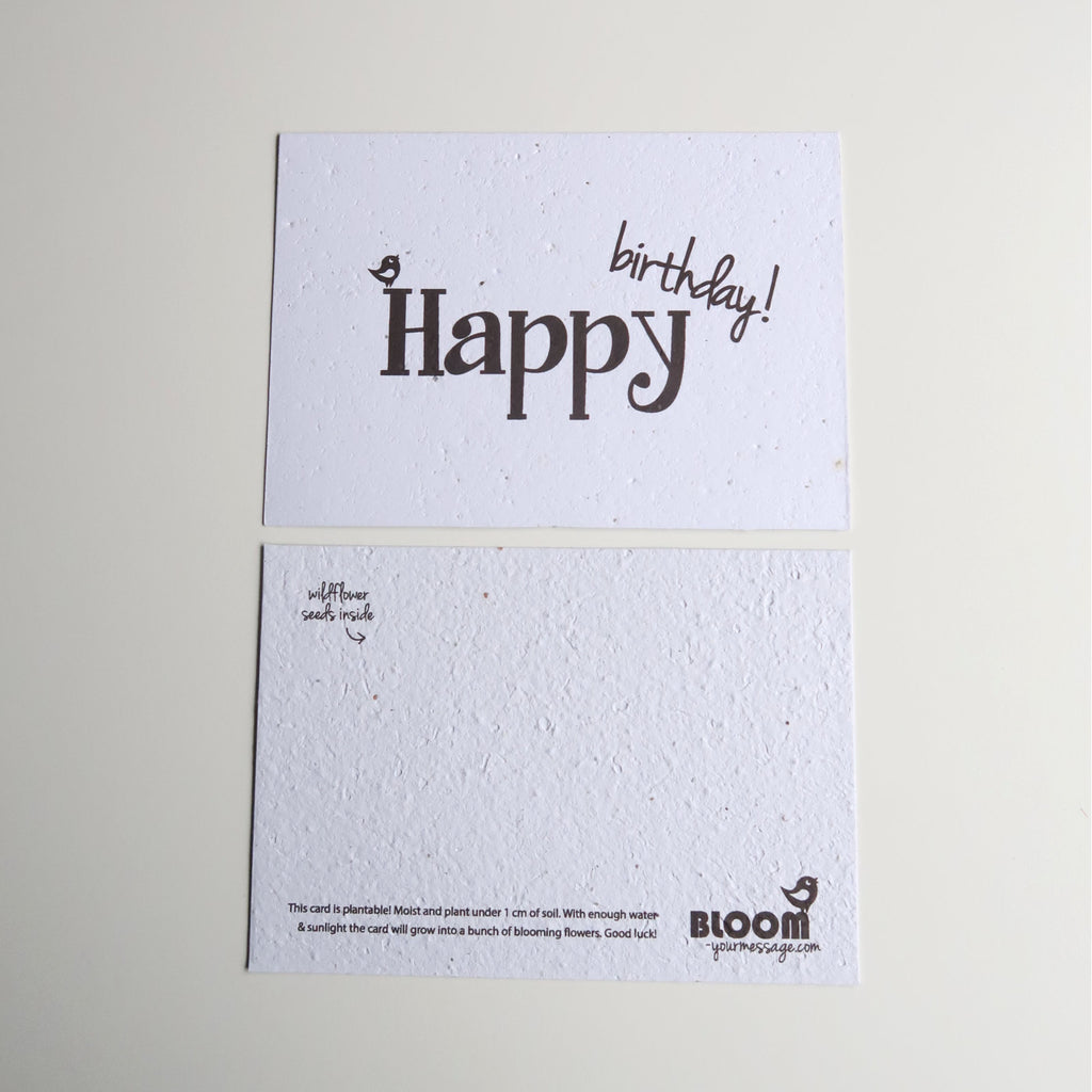 Happy Birthday Plantable Card instructions