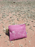 Pink Map Zip Bag