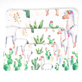 Large Llama & Cactus Zip Bag- Ipad Sleeve/Toiletry/ Baby Bag