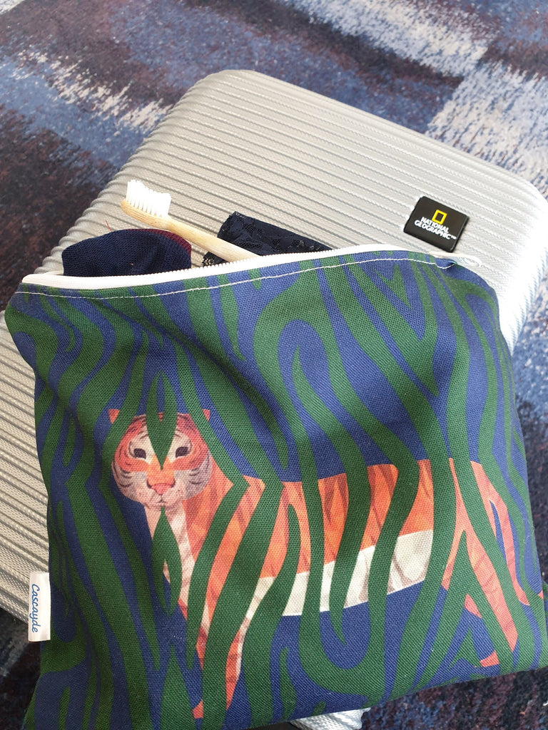 tiger print travel bag