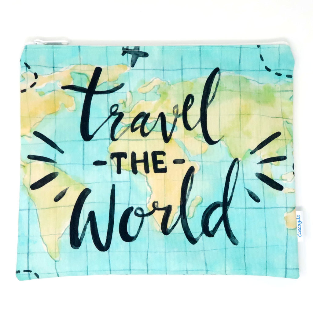 Travel the World Bag - Ipad Sleeve/Toiletry/ Baby Bag