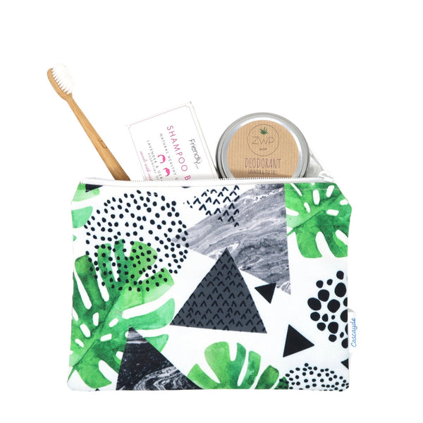 Eco Gift set- wash bag, bamboo toothbrush, shampoo bar, deodorant