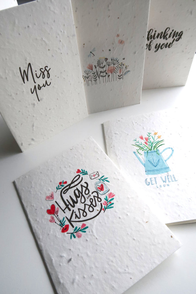 plantable seed paper greetings cards