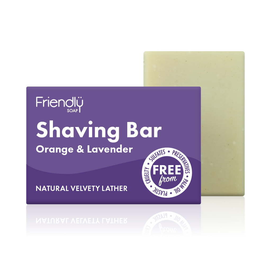 orange and lavender shaving bar