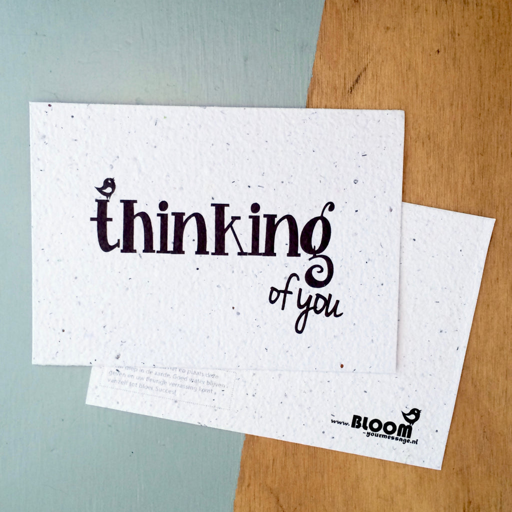 plantable thinking of you card