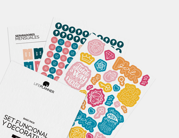 SET STICKERS: FUNCIONAL Y DECORATIVO