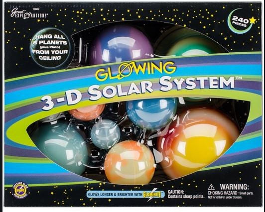 3-D Glowing Solar System