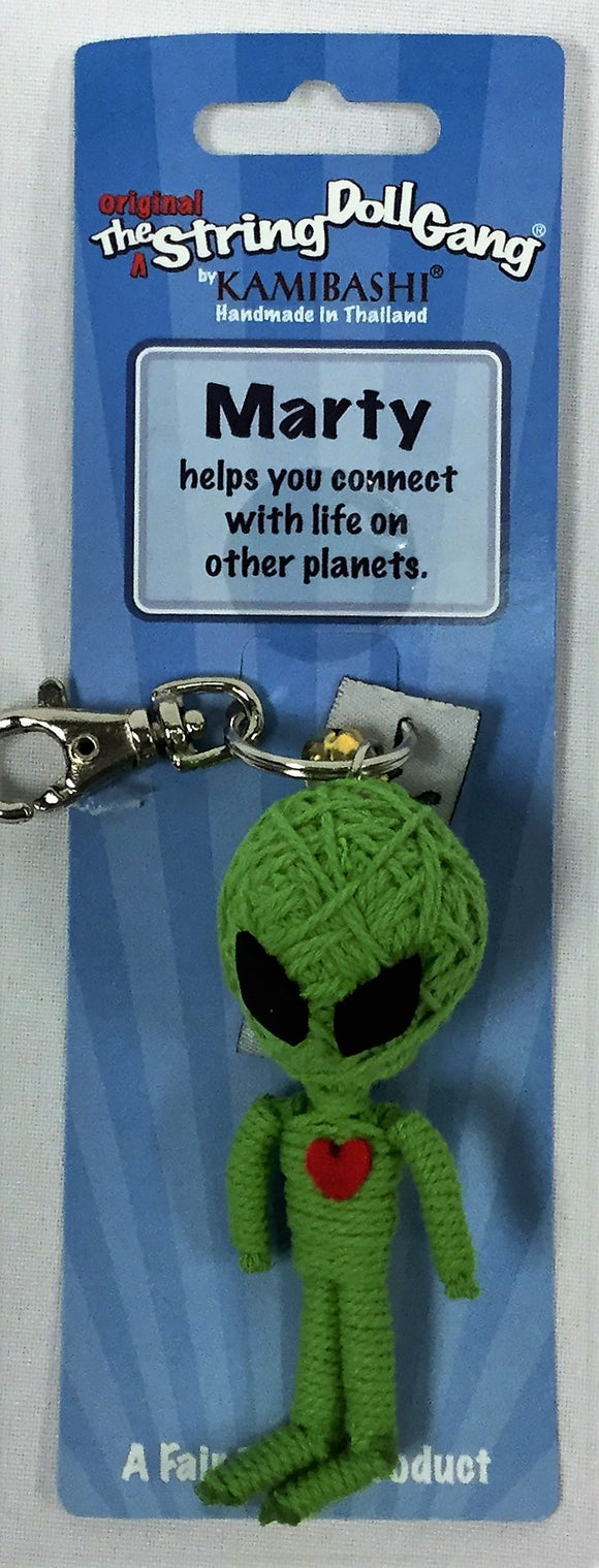 Marty The Alien Keychain