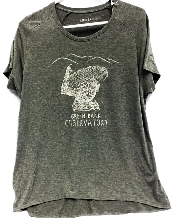 Custom GBO Womens Heather Graphite Crew Neck SS Tee