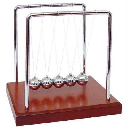 Wooden Base Newton's Cradle