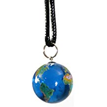 Corded Earth  Marble Necklace