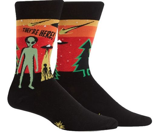 Mens Crew They're Here Socks
