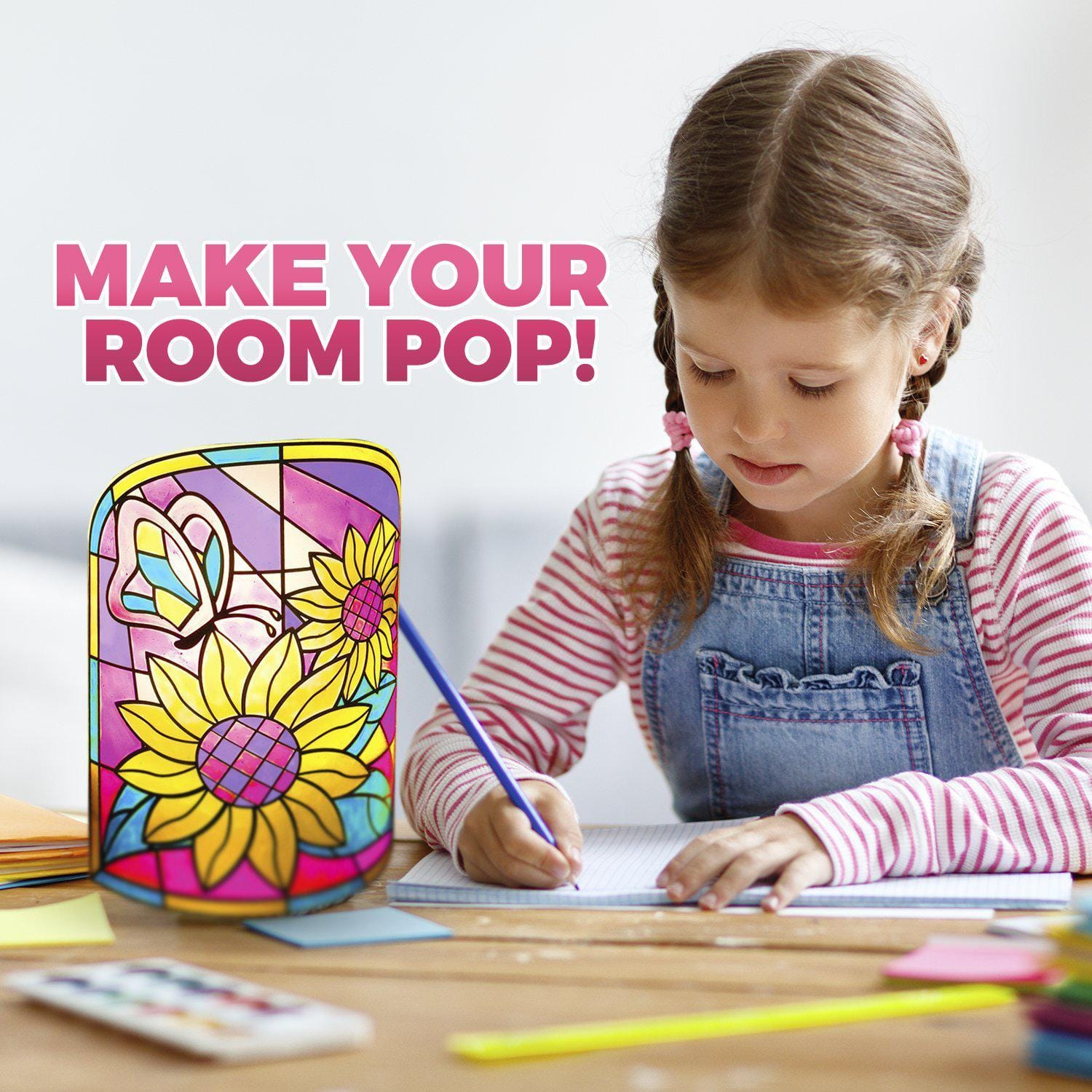 b72bdb7e6a082 Kids Lamp DIY Kit - Build your Own Stained Art Night lamp – Smartstoy
