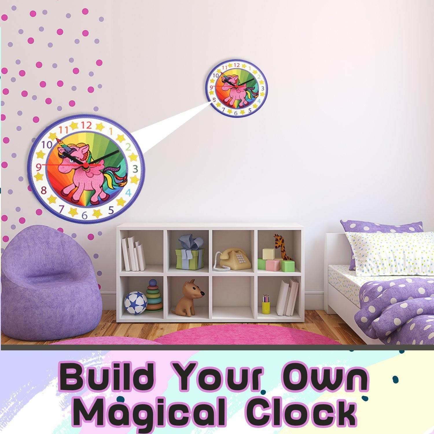 Unicorn Wall Clock Diamond Painting Kits For Kids Make Your Own