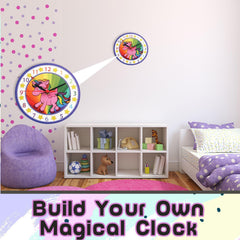 Unicorn Wall Clock - Diamond Painting Kits for Kids - Make Your Own Clock - Smartstoy