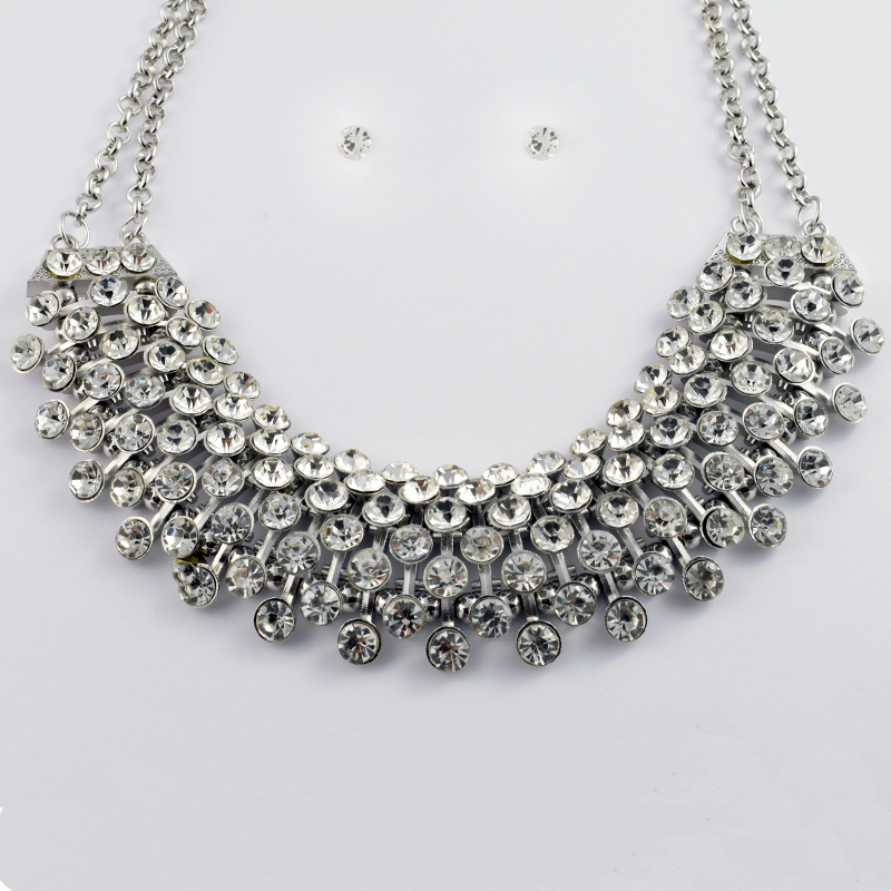 350d5cdd4 Silver Statement Necklace Set | Costume Jewellery | Valo Jewellery –