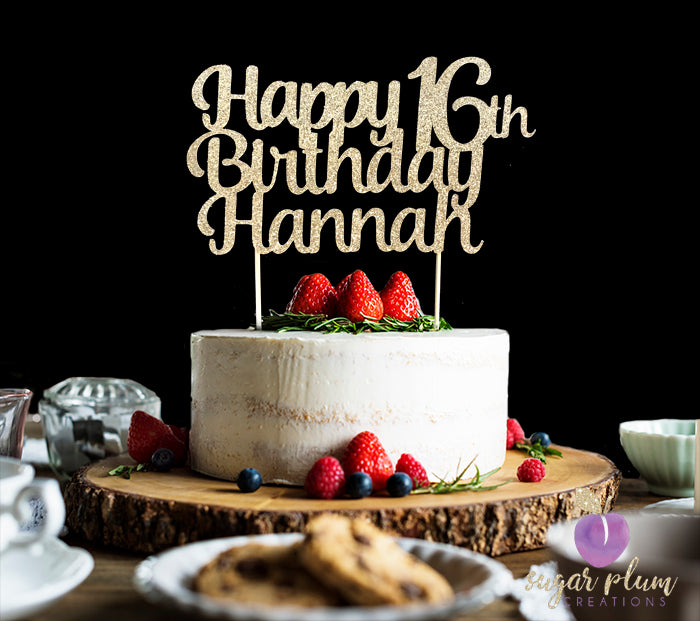 Sensational Happy 16Th Birthday Cake Topper Personalised Birthday Cards Veneteletsinfo
