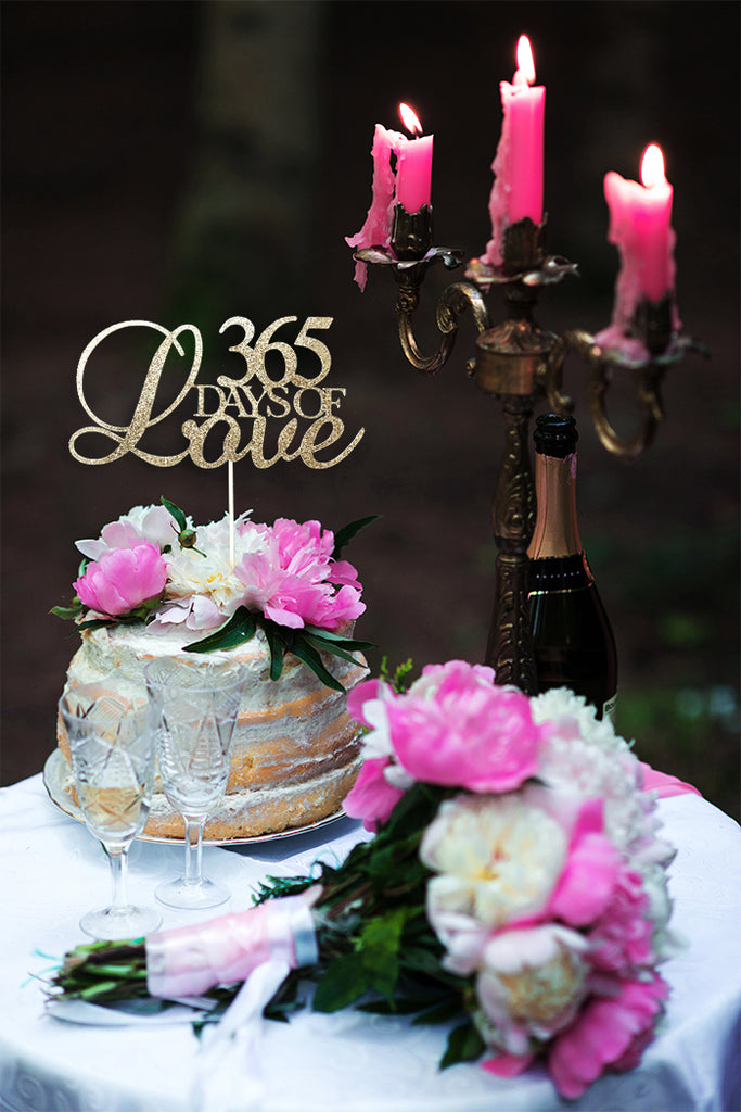 365 Days of Love Cake Topper