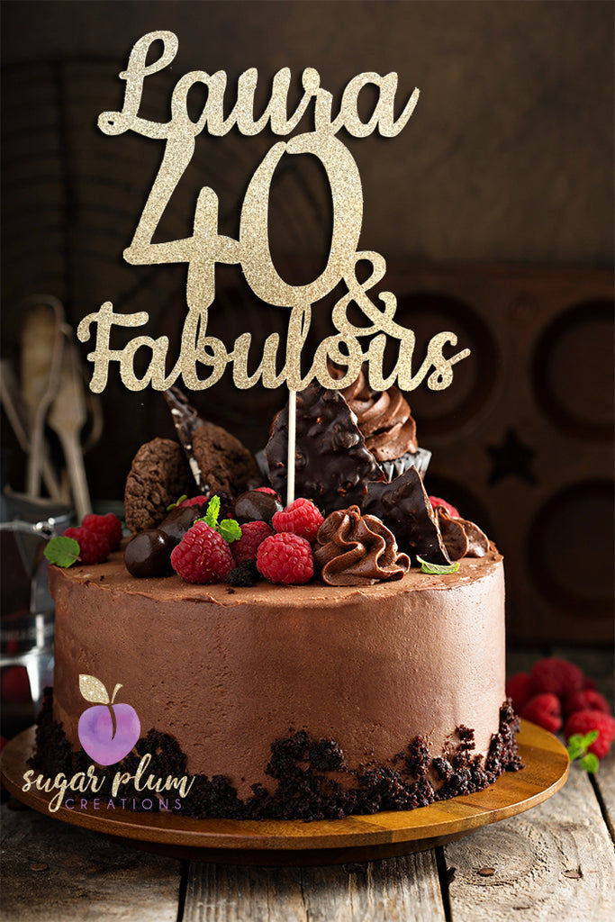 Magnificent Baking Accs Cake Decorating 40Th Forty Personalised Happy Funny Birthday Cards Online Overcheapnameinfo