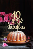 40 Years of Fabulous Cake Topper
