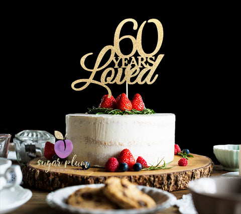 Select Options 60 Years Loved Cake Topper