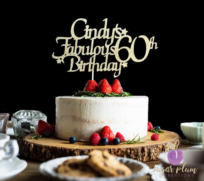 Terrific Fabulous 60Th Birthday Cake Topper Funny Birthday Cards Online Bapapcheapnameinfo