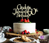 Fabulous 60th Birthday Cake Topper