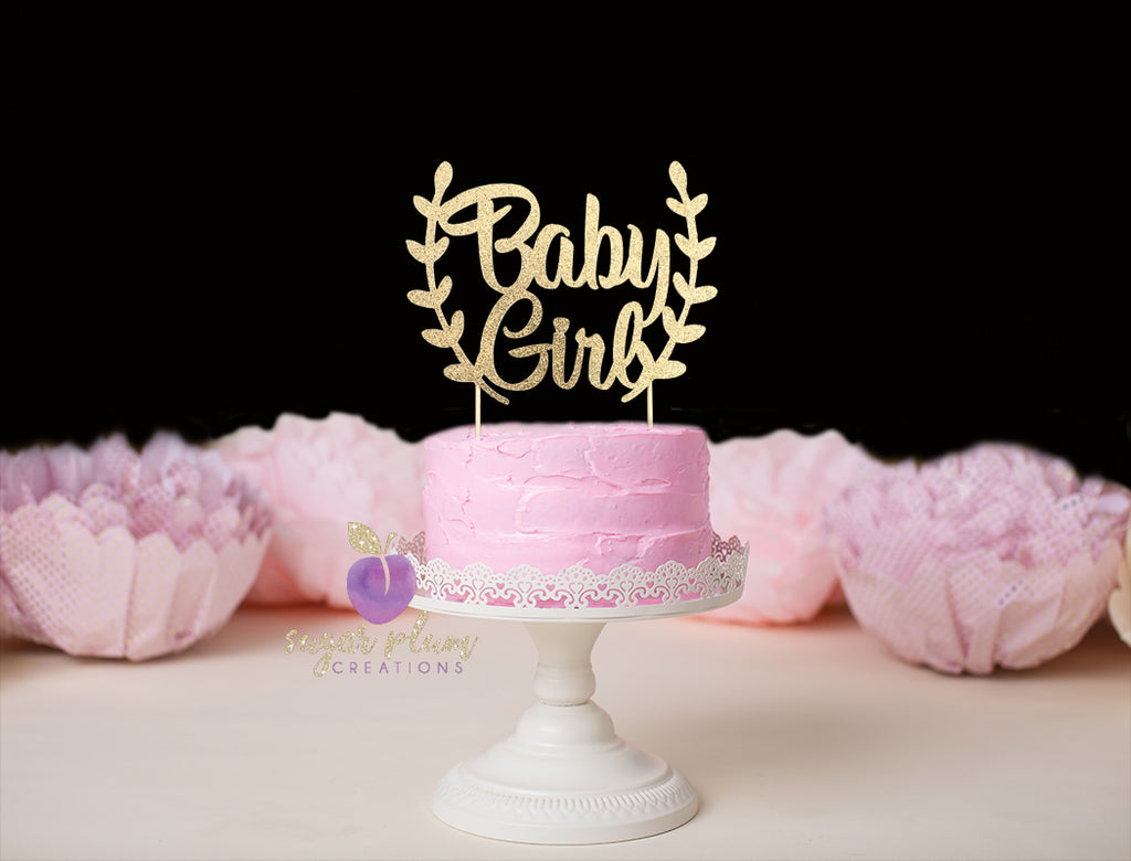Baby Girl (with branches) Cake Topper