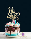 He or She Cake Topper