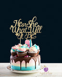 He or She What Will It Be Cake Topper
