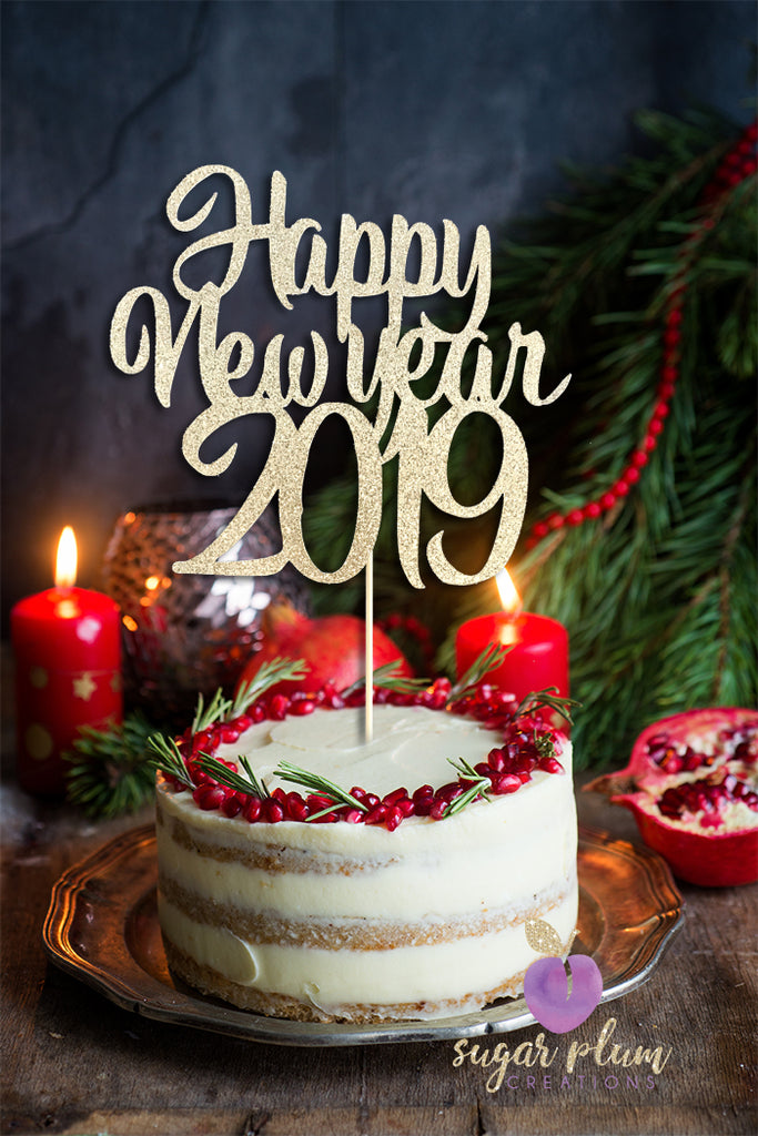 Happy New Year 2019 Cake Topper