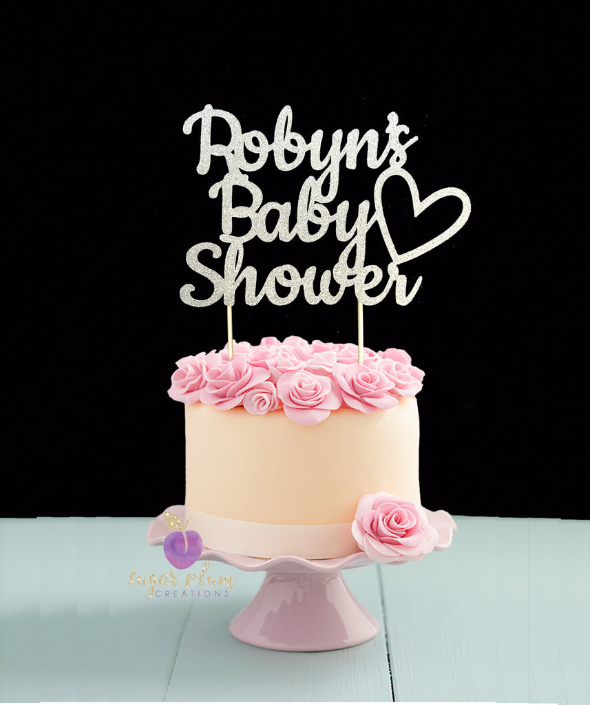 Personalized Baby Shower Cake Topper