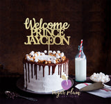 Welcome Prince Cake Topper
