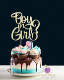 Boy or Girl (Curly) Cake Topper