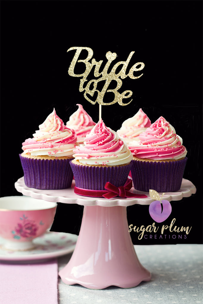 Bride to Be Cupcake Toppers