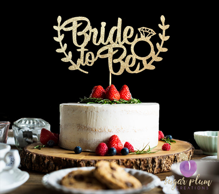 Bride To Be Cake (with branches) Topper