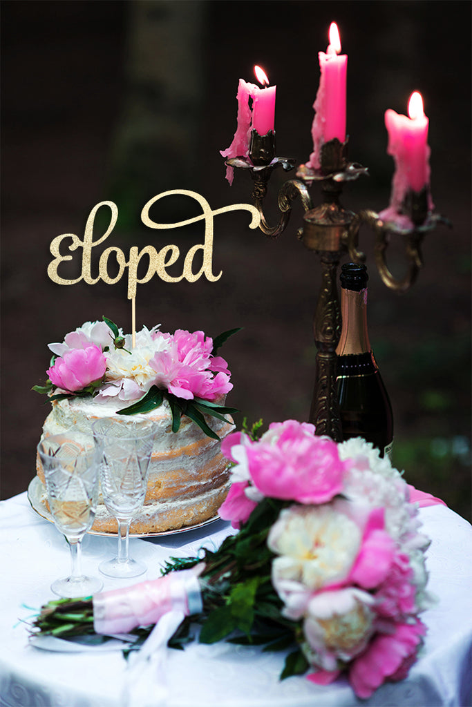 Eloped Cake Topper