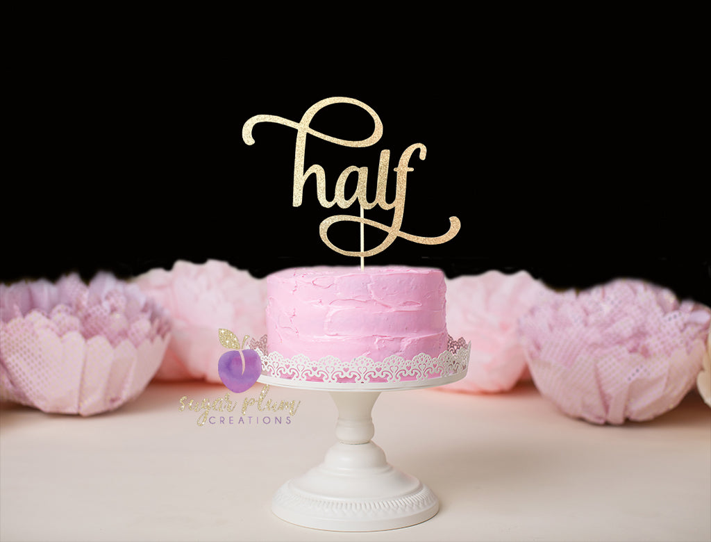 Half (curly) Cake Topper