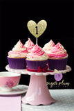 1 (with heart) Cupcake Topper