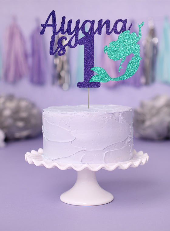 Terrific Personalized Mermaid Birthday Cake Topper Funny Birthday Cards Online Fluifree Goldxyz