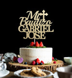 Mi Bautizo Cake Topper with two names