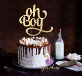 Oh Boy (curly) Cake Topper