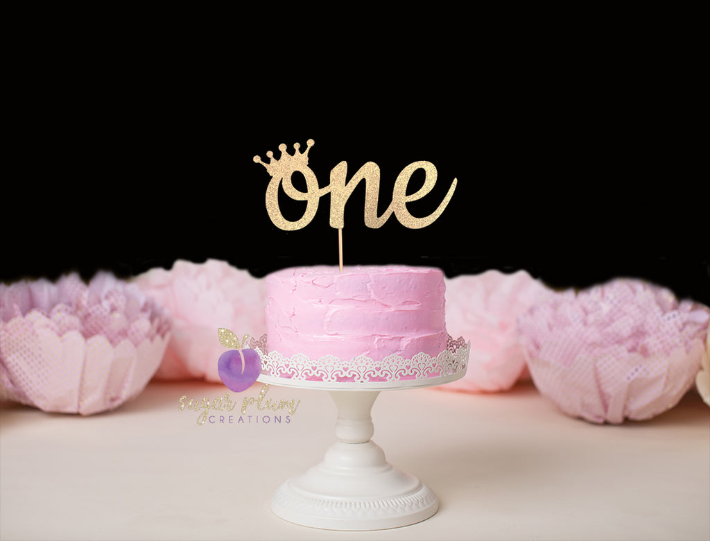 One (crown) Cake Topper