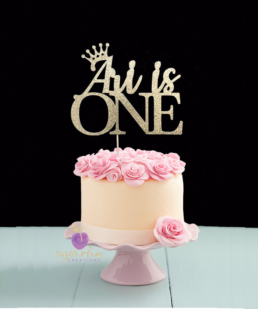Swell First Birthday Cake Topper Funny Birthday Cards Online Alyptdamsfinfo